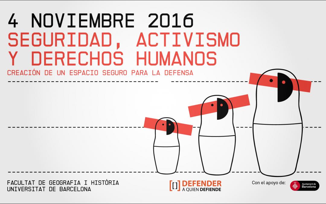 Jornada 'Seguridad, Activismo y Derechos Humanos'